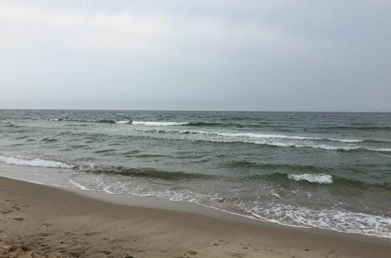 Deining op het strand