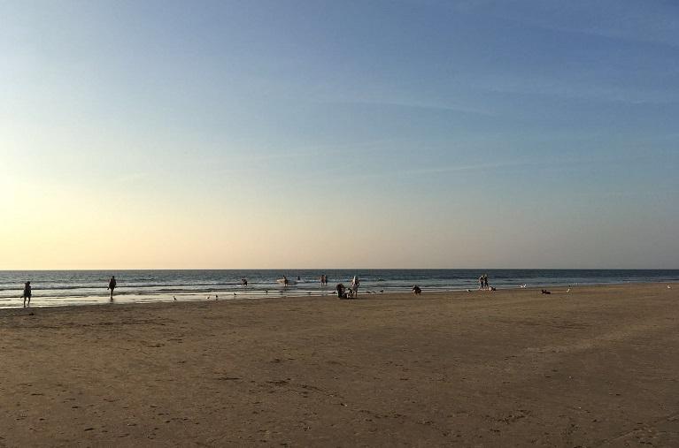 Vandaag zomers strandweer