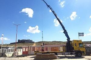 Reddingsbrigade Wijk aan Zee opbouwen Zuidpost